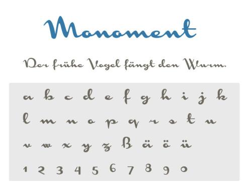 Gratis-Schriften zum Herunterladen: Monoment ©COMPUTER BILD