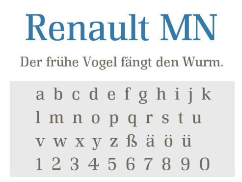 Gratis-Schriften zum Herunterladen Renault MN ©COMPUTER BILD