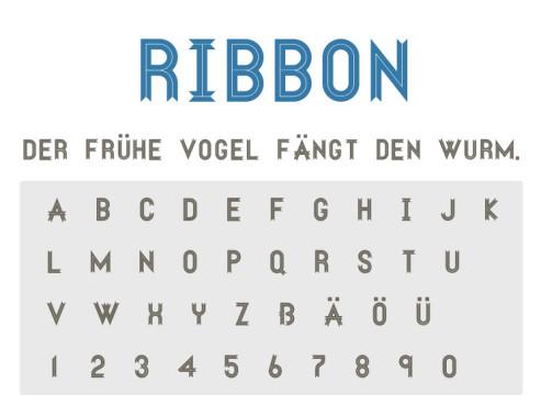 Gratis-Schriften zum Herunterladen: Ribbon ©COMPUTER BILD
