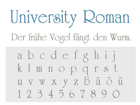 Gratis-Schriften zum Herunterladen University Roman ©COMPUTER BILD