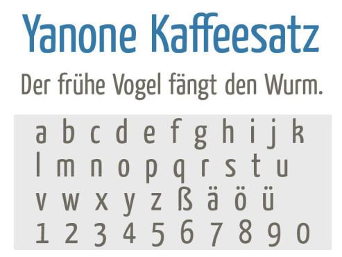 Gratis-Schriften zum Herunterladen: Yanone-Kaffeesatz ©COMPUTER BILD