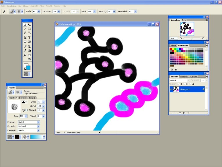 Screenshot 1 - Portable Artweaver
