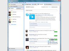 Skype mit Facebook-Newsfeed©Skype