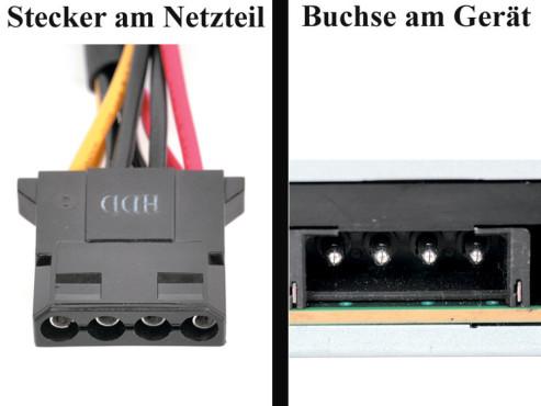 """Bildergalerie """"Die Stecker von Netzteilen"""" Laufwerke mit EIDE-Anschluss"""