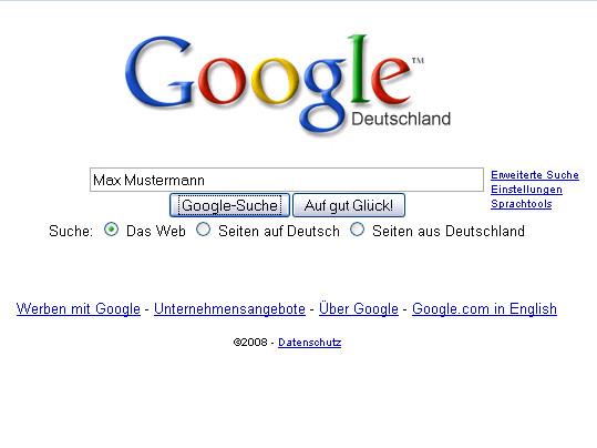 Suche nach dem Internet