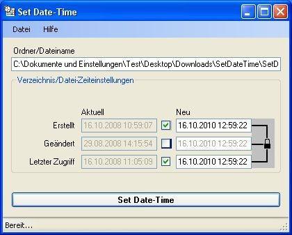 Screenshot 1 - SetDateTime