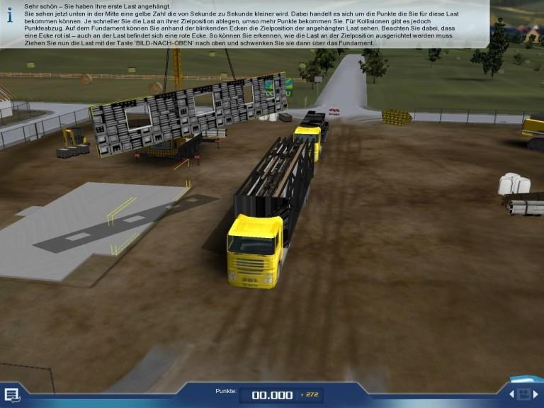 Screenshot 1 - Kran-Simulator 2009
