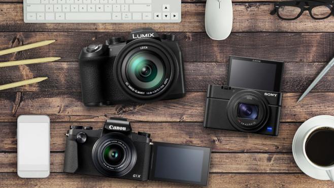 Die besten Kompaktkameras©iStock.com/ExperienceInteriors, Canon, Sony, Panasonic