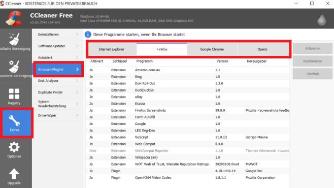Browser-Plug-ins ausmisten ©COMPUTER BILD