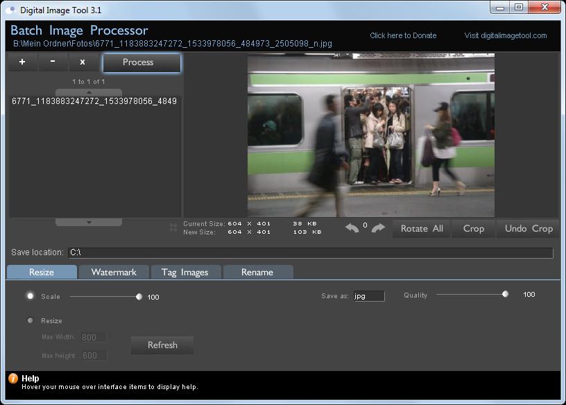 Screenshot 1 - Digital Image Tool