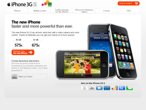iPhone 3GS bei mobistar.be
