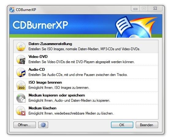 Screenshot 1 - CDBurnerXP Portable