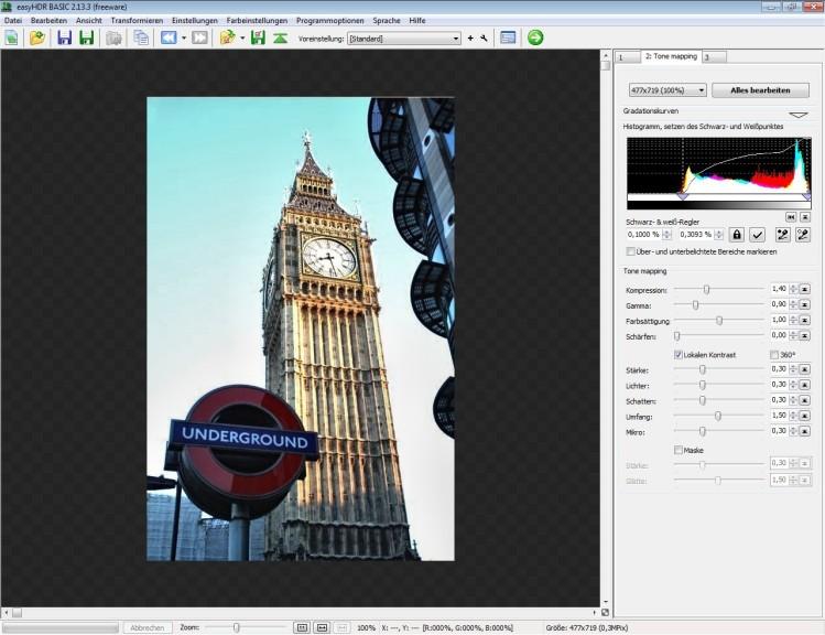 Screenshot 1 - easyHDR Basic