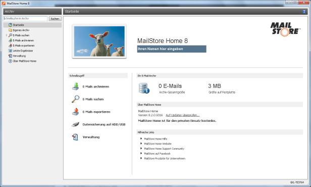 MailStore Home: Gratis-Software zur Archivierung von E-Mails©COMPUTER BILD