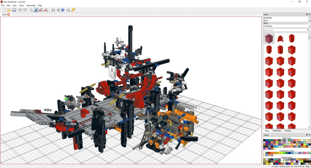 Screenshot 1 - LeoCAD