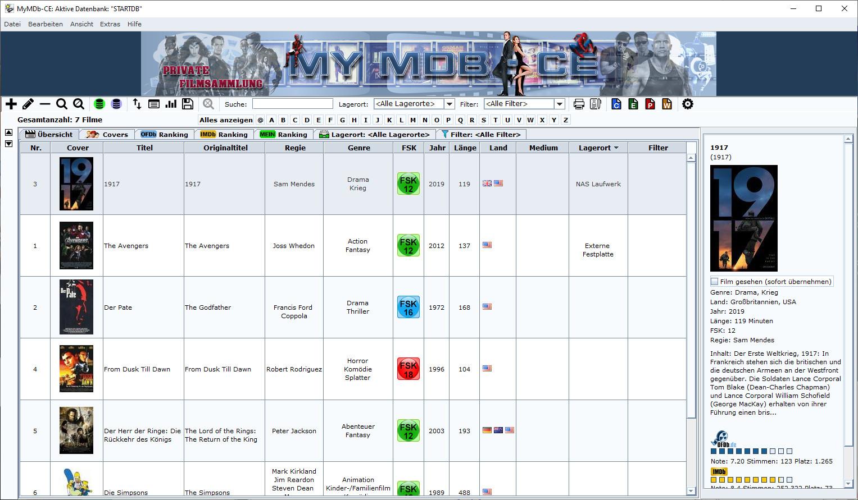 Screenshot 1 - MyMDb CE