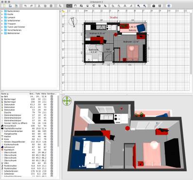 Screenshot 1 - Sweet Home 3D (Mac)