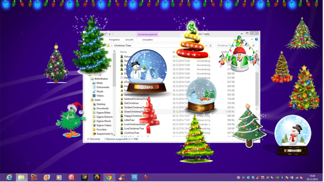 Animated Christmas Tree for Desktop: Virtuelle Weihnachtskiste © COMPUTER BILD
