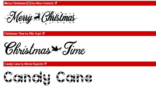Christmas Fonts (Schriftarten zu Weihnachten): Schriften zum Fest ©COMPUTER BILD
