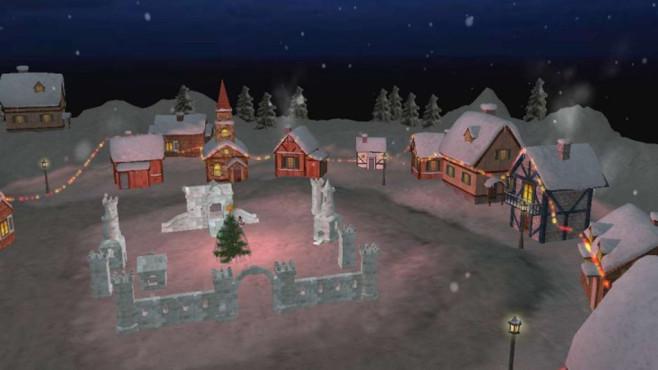 Christmas Land 3D Screensaver: Stadtrundgang bei Schneefall ©COMPUTER BILD