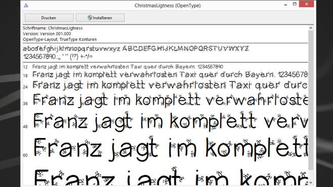Christmas Lightness: Verzierten Text ausdrucken ©COMPUTER BILD