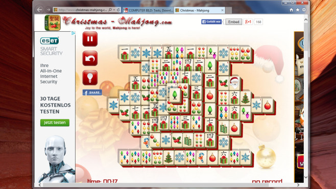Christmas Mahjong: Klassiker-Spiel zu Weihnachten ©COMPUTER BILD