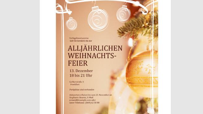 Einladung zur Weihnachtsfeier (geschäftlich, Word-Vorlage) ©COMPUTER BILD
