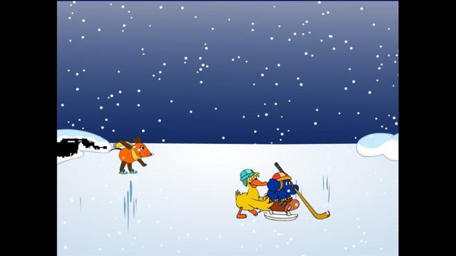Eislaufen mit der Maus: Bildschirmschoner zu Kindersendung ©COMPUTER BILD