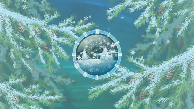 Furry Christmas Clock Screensaver: Tannenzweige-Bildschirmschoner ©COMPUTER BILD