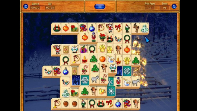 Gekko Mahjongg (Weihnachts-Edition): Chinesisches Legespiel ©COMPUTER BILD