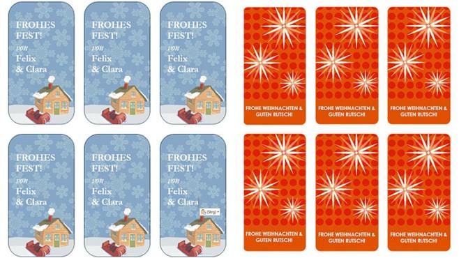 Geschenkanhänger zu Weihnachten: Vorlagen für Word ©COMPUTER BILD