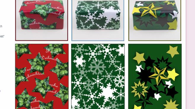 Geschenkpapier ausdrucken: Präsente originell verpacken ©COMPUTER BILD