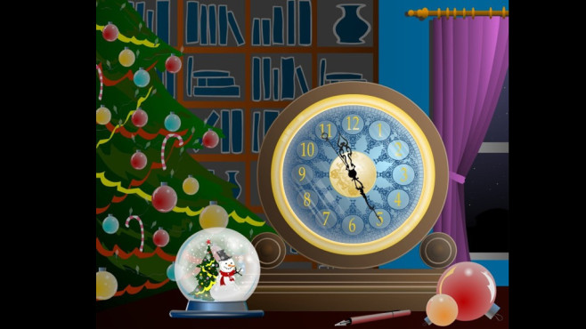 Magic Christmas Clock Screensaver: Uhrzeit im Blick © COMPUTER BILD