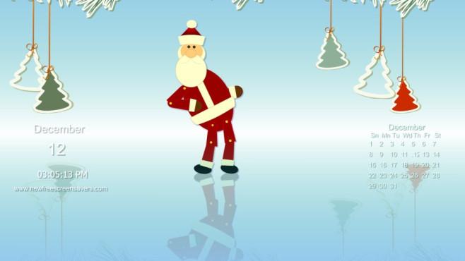Santa Dances Calendar Screensaver: Tanzender Weihnachtsmann mit Extras ©COMPUTER BILD