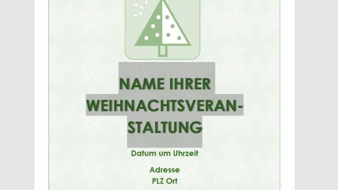 Weihnachtsparty-Flyer (Handzettel als Word-Vorlage) ©COMPUTER BILD