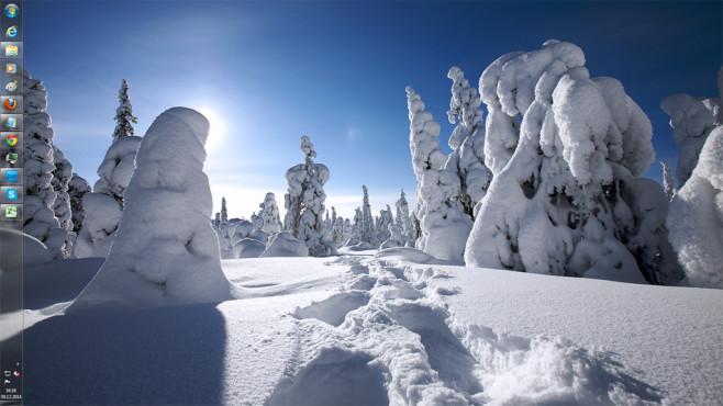 Winter-Designs: Betriebssystem aufs Fest einstimmen ©COMPUTER BILD