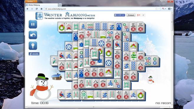 Winter Mahjong: Brettspiel-Klassiker mit Weihnachtssymbolen ©COMPUTER BILD