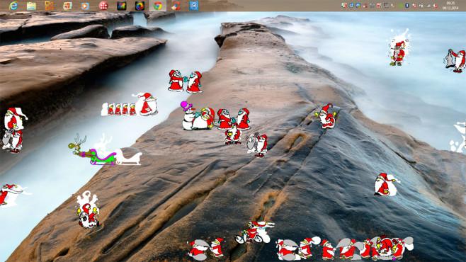 Xmas Fred: Prügelnde Weihnachtsmänner ansehen ©COMPUTER BILD