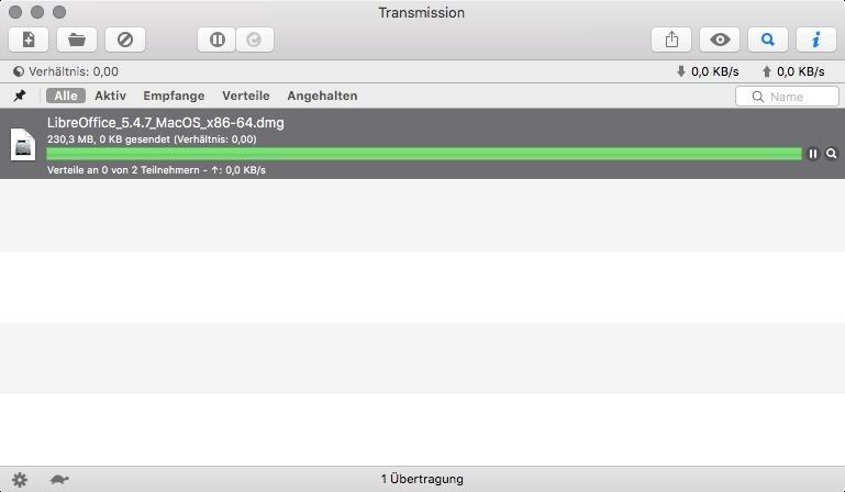 Screenshot 1 - Transmission (Mac)