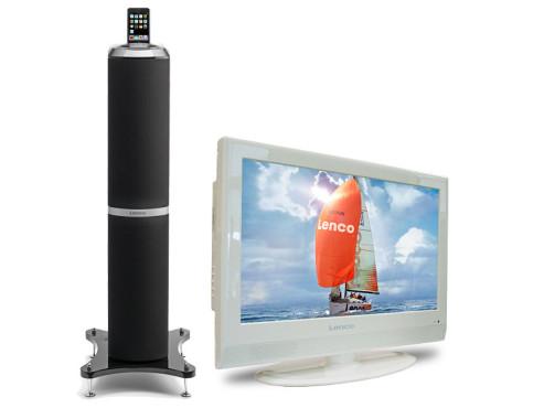 Lenco DVT-1936, DV2236, DVT-2621, iPod Tower 1: TV-Geräte und iPod-Tower