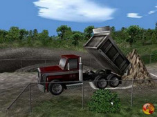 Simulation Baumaschinen-Simulator: LKW