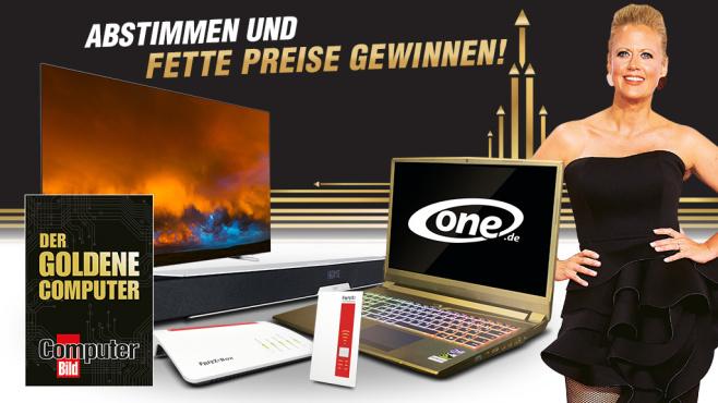 COMPUTER BILD Goldener Computer 2019©AVM, Philips, One.de, COMPUTER BILD