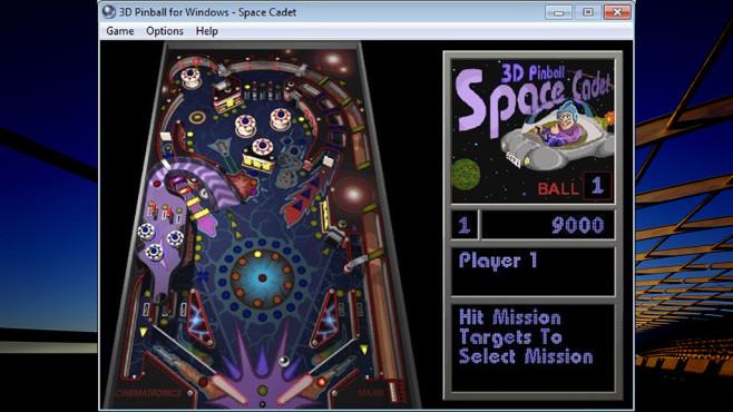 Microsoft 3D Pinball: Space Cadet ©Microsoft