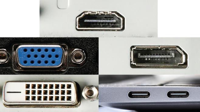 Monitoranschlüsse im Überblick©COMPUTER BILD