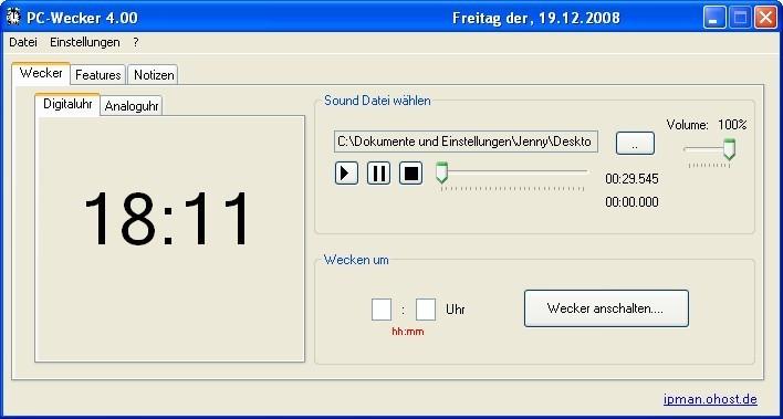 Screenshot 1 - PC-Wecker