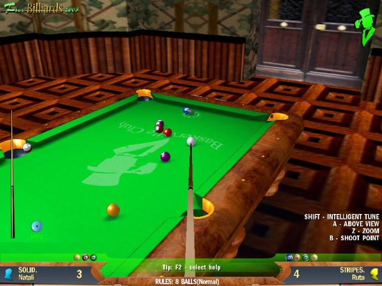 Screenshot 1 - Free Billiards 2008