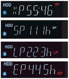 DVD-Recorder: Display zeigt den jeweiligen Modus an