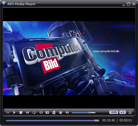 Screenshot 1 - AVS Media Player