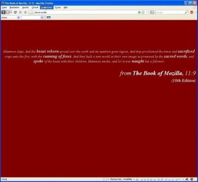 Anleitung – Firefox 3: about:mozilla