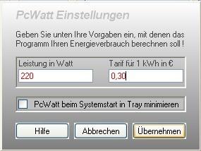 Screenshot 1 - PcWatt